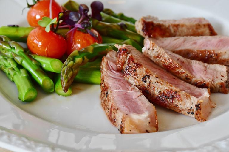 BBQ pork tenderloin marinated for 24 hours. Yum!