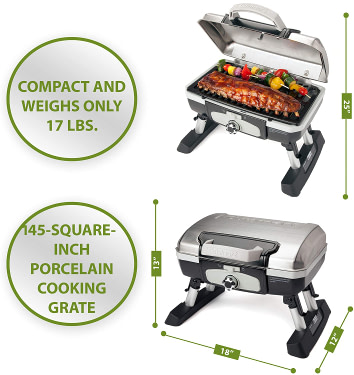 Cuisinart CGG-180TS Petit Gourmet Portable Tabletop Gas Grill Review
