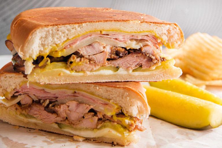 Cheesy Grilled Turkey Cuban Sandwich
