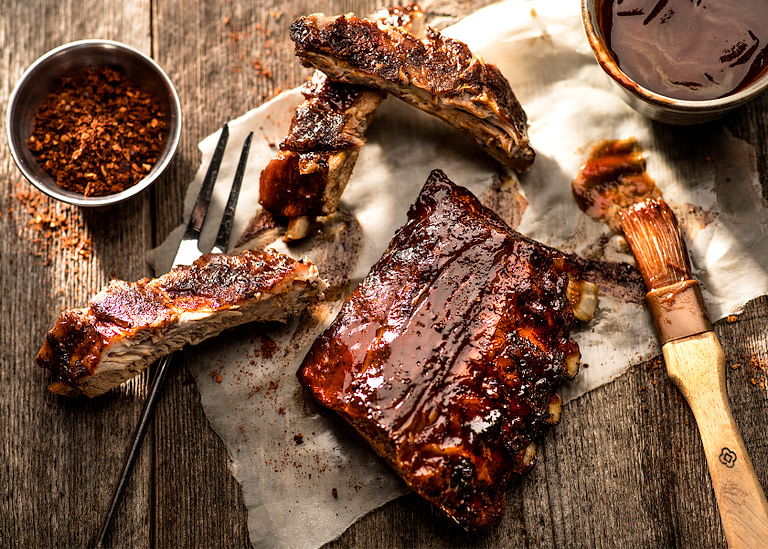 BBQ Spare Ribs on the Grill